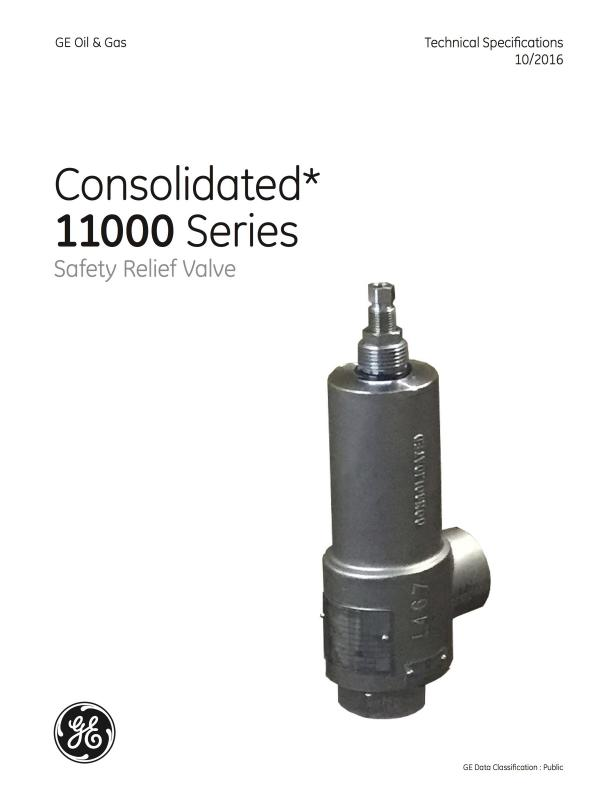 Consolidated 11000 Series Safety Relief Valve